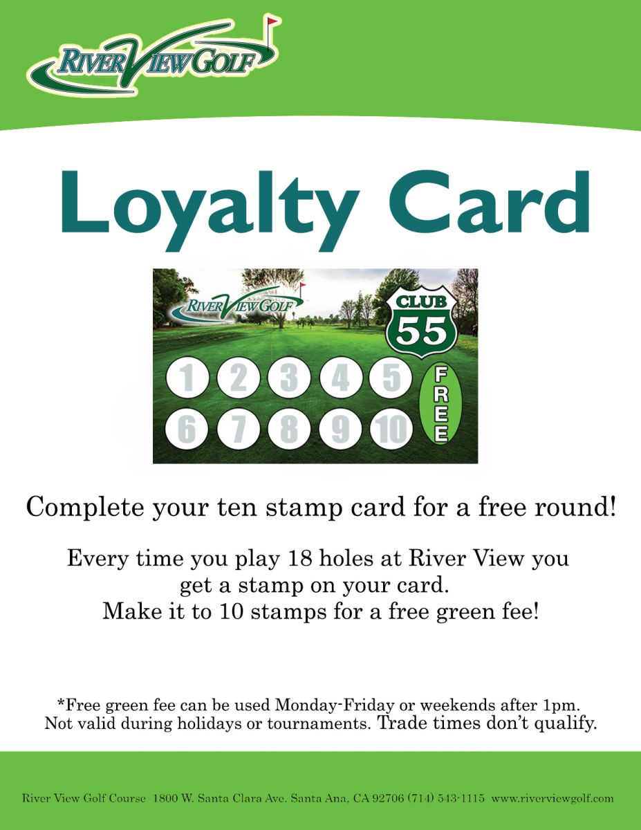 Loyalty Card flyer