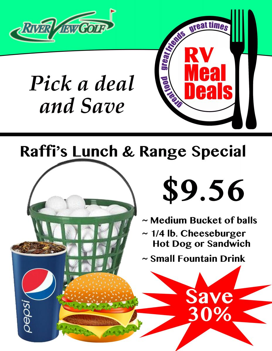 Raffi's Lunch and Range Special flyer