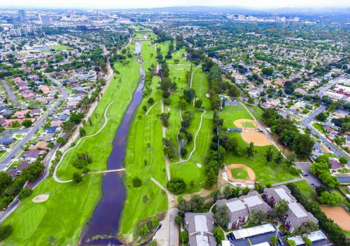 Aerial view of River View Golf Course
